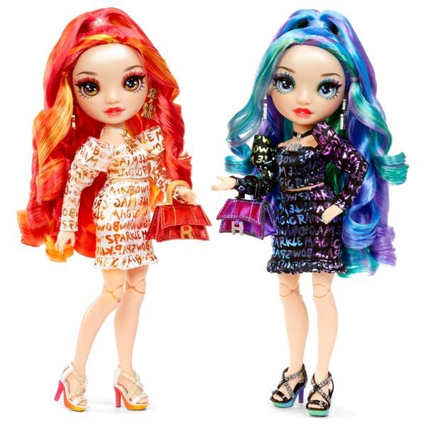 rainbow high devious De'vious tweeling speelgoed is leuk karakters afmetingen verhaallijn